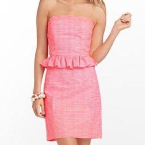 Lilly Pulitzer Lowe Fiesta Pink Gingham Dress